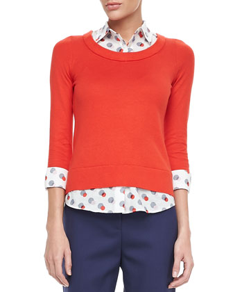 yardley two-fer sweater