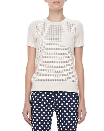 mercy short-sleeve dot sweater