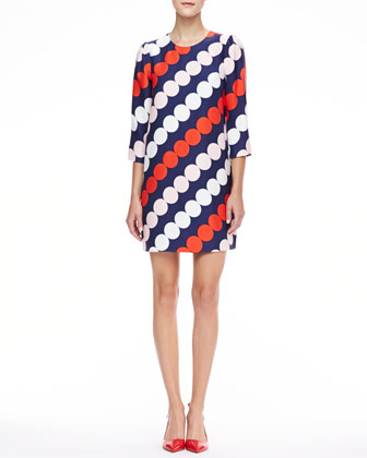 julian dot-print shift dress