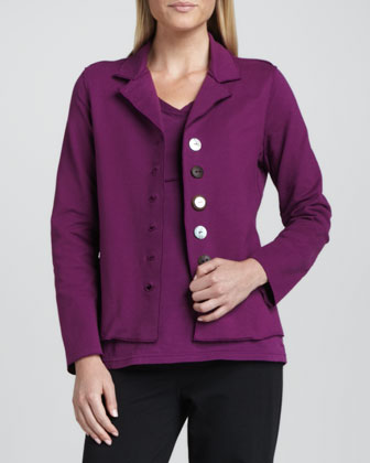 Bay Button-Front Blazer