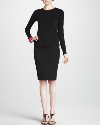 Jersey Pencil Skirt, Women's