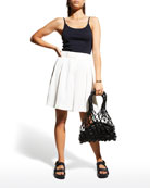 Coraline Slub-Knit Camisole, Pink Sand