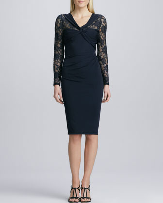 Knotted Lace Cocktail Dress