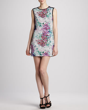 Floral-Print Cutout-Back Dress