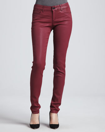 Alice Sangria Coated Skinny Jeans
