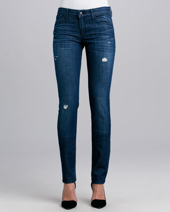 Alice Distressed Skinny Jeans, Sugar
