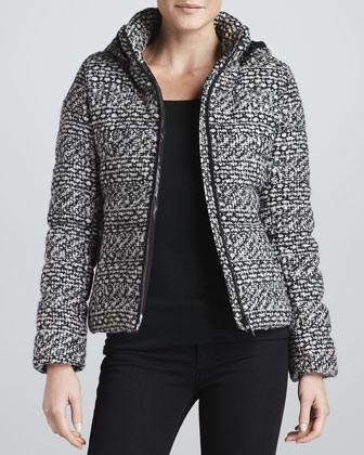 Blake Tweed Quilted Down Jacket