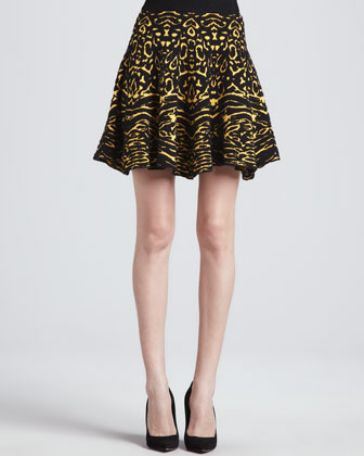 Anabella Animal-Print Skirt