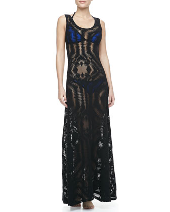 Lace Coverup Maxi Dress