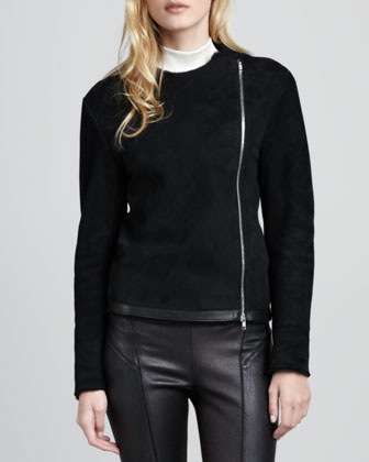 Gabrelle Shearling Zip Jacket