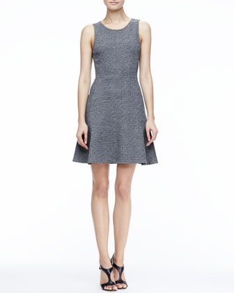 Nikay Flared Tweed Dress