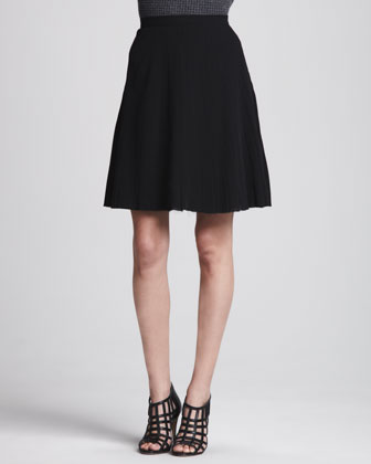Alcine Pleated Knit Skirt