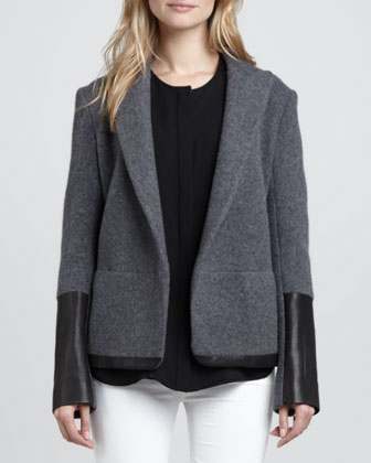 Antonito Leather-Trim Blazer