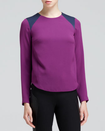 Clemence Contrast-Shoulder Top