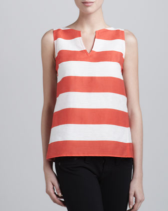 Nautical Striped Sleeveless Top