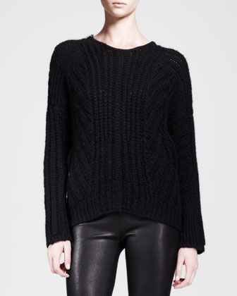 Shifting Cord Pullover Sweater