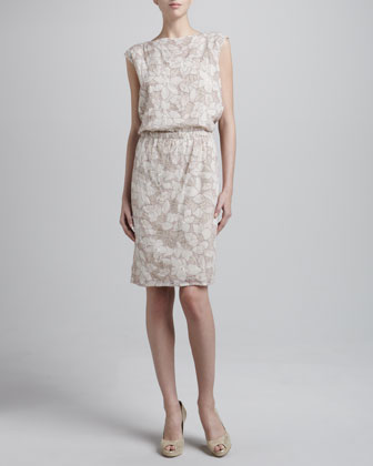 Sleeveless Petal Embroidered Dress