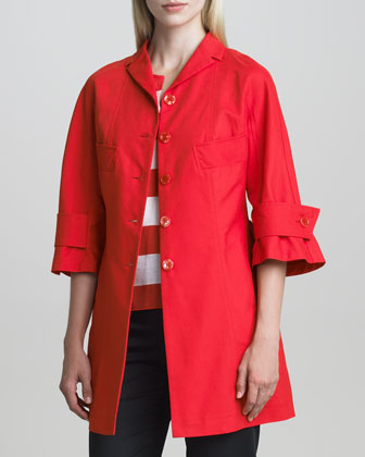 Three-Quarter-Sleeve Cotton Jacket