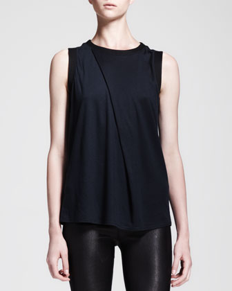 Emission Asymmetric Pleat Top