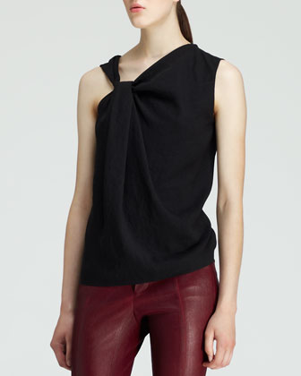 Crash Jacquard Combo Jacket, Render Twist-Neck Top & Cropped Leather ...