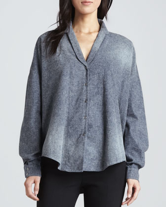 Brana Loose Chambray Top