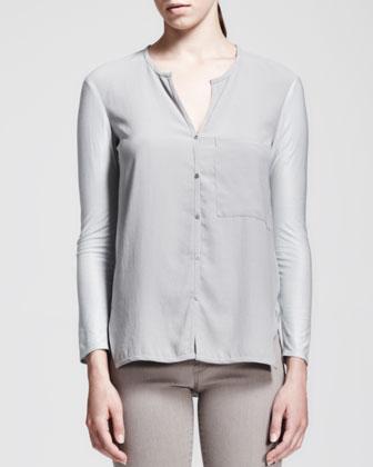 Nexa Buttoned Pocket Blouse