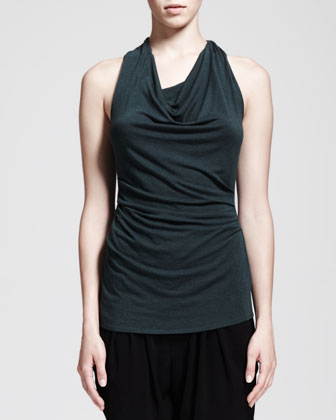 Nova Cowl-Neck Jersey Top and Nexa Dropped Slouchy Pants