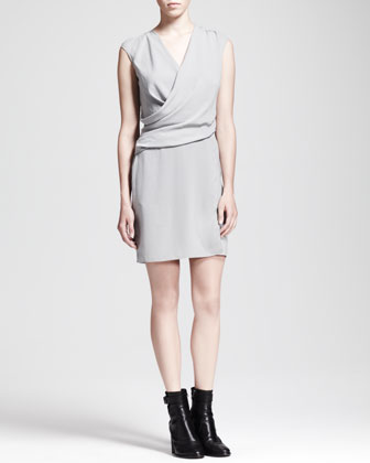 Nexa Cap-Sleeve Overlap Dress