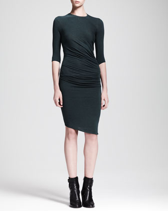 Asymmetric Nova Jersey Dress