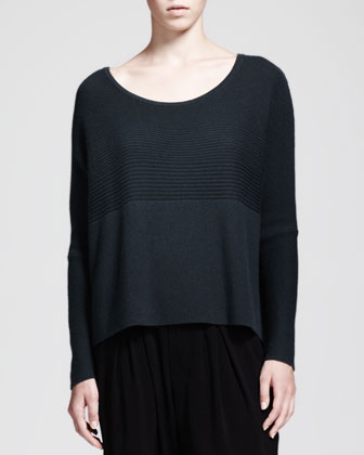 Plush Mixed-Rib Sweater