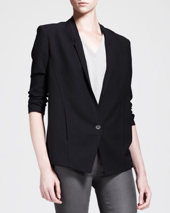 Slouchy Single-Button Suiting Jacket