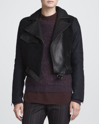 Felton Mixed-Fabric Jacket