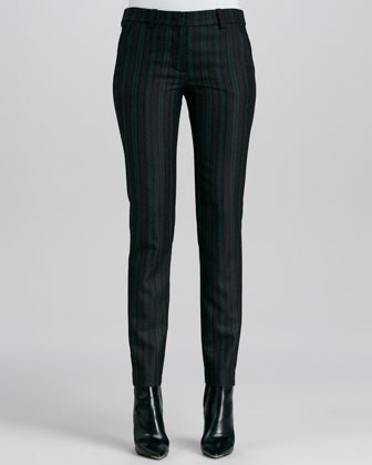 Cullum Striped Straight-Leg Pants