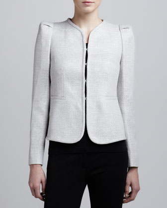 Open-Front Knit Jacket