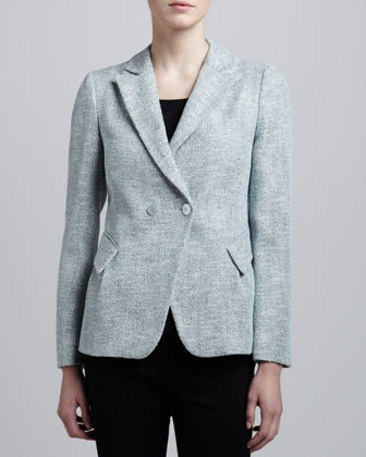 Double-Breasted Tweed Jacket