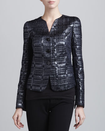 Three-Button Woven Jacket