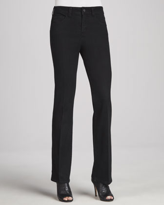 Jillian Modified Boot-Cut Tuxedo Jeans, Onyx