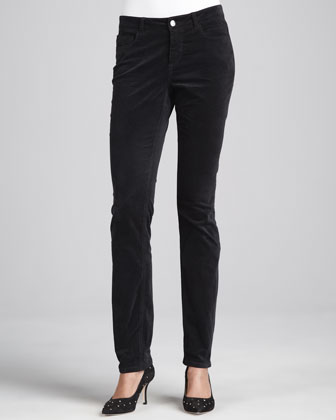 Madison Geneva Velvet Straight-Leg Pants