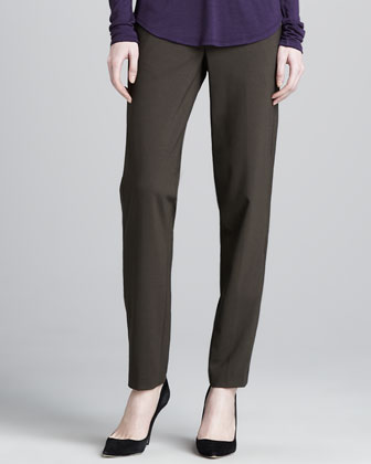 Relaxed Stretch-Wool Trousers, Fatigue