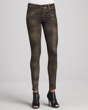 Peace Shimmer Skinny Jeans