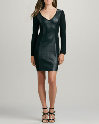 Deborah Perforated-Front Dress