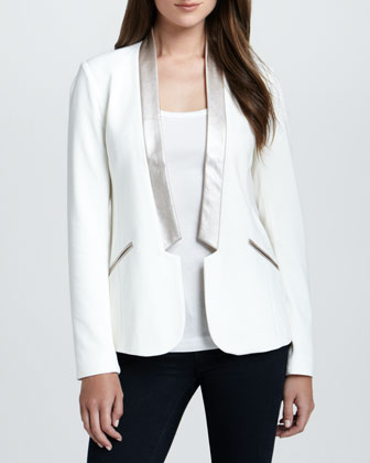Sandra Open Shawl-Collar Blazer