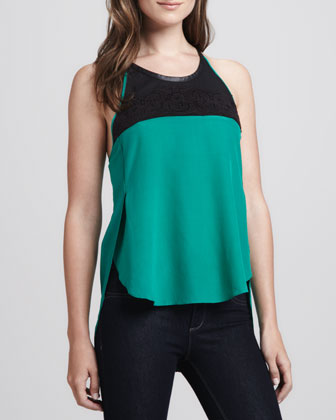 Silk Lace-T-Back Tank