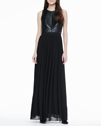 Florence Pleated Maxi Dress