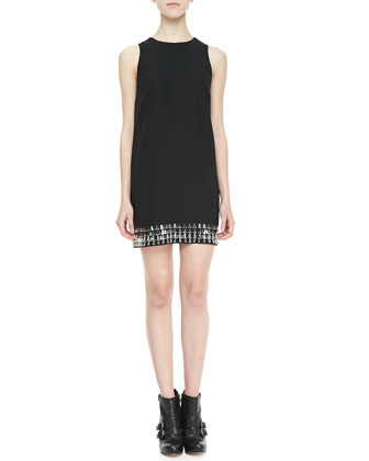 Hartley Crystal-Bottom Shift Dress