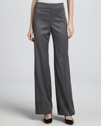 Micro Herringbone Pants