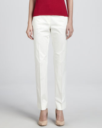 Cotton Twill Sport Pants, Off White