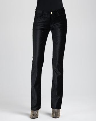 The Skinny Boot-Cut Velvet Pants