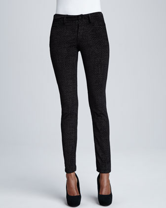 Sophia Disco Animal-Print Skinny Jeans