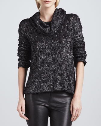 Felicia Metallic Knit Sweater